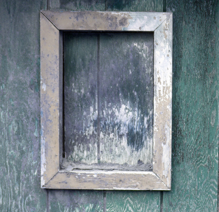 Old weathered frame.